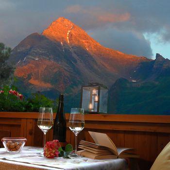 Romantischer Ausblick vom Balkon